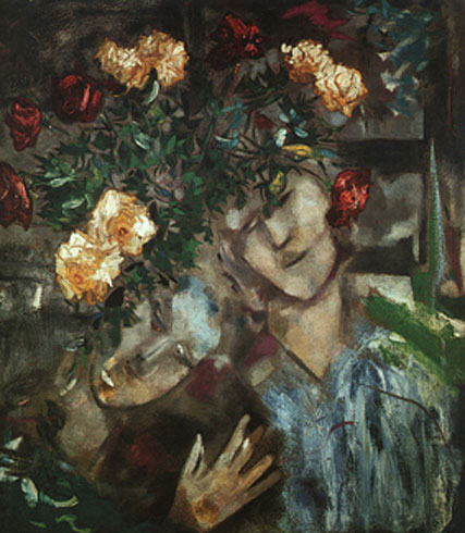 1927_chagall_Lovers_with_Flowers